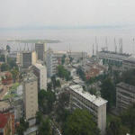 The Congo River and the port of Kinshasa