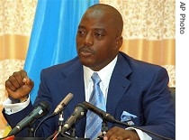 Joseph Kabila holds press conference in Kinshasa, 26 Mar. 2007
