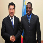 Chinese Vice Premier Hui Liangyu meets with President of the Democratic Republic of Congo  Joseph Kabila in Kinshasa