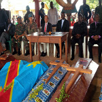 Ceremony in honor of people killed in Beni on 10.17.2014