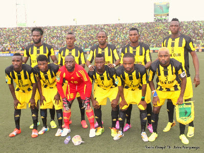 AS Vita during their game against CS Sfaxien in Kinshasa on 9.21.2014
