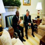 George Bush and Joseph Kabila
