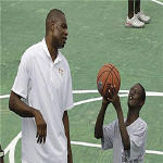 Dikembe Mutombo - NBA Basketball Without Borders