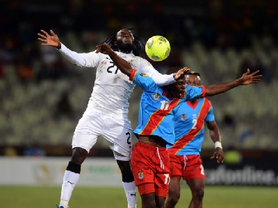 DR Congo Leopards play against Ghana Black Stars