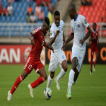 DR Congo Leopards play against Congo Red Devils at the 2015 Africa Cup of Nations on 1.31.2015