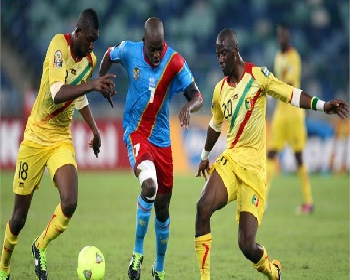 DR Congo against Mali at Africa Cup of Nations