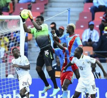 DR Congo Foorball team, the Leopards, against Ghana's Black Stars on Sunday at the 2013 Africa Cup of Nations