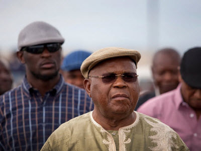 Etienne Tshisekedi arrives in Goma on 11.14.2011