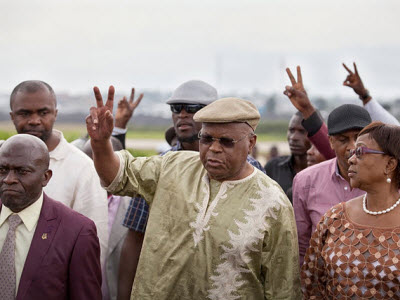 Etienne Tshisekedi arrives in Goma