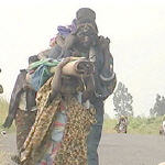 Congolese fleeing home to escape warfare