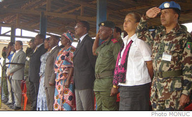 The Disarmament, Demobilization and Reintegration (DDR) phase III pilot project which began in Ituri district on 4 August 2007, officially ended on Monday 15 October 2007 in Bunia. The DRC Minister for Social Affairs who chaired the ceremony gave an additional 72 hours deadline extension for combatants still in the bush to disarm, and launched the community reconstruction project for Ituri.