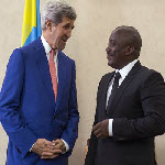 Secretary of State John Kerry with President Joseph Kabila on 5.4.2014