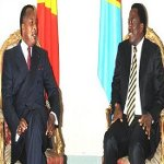 Presidents Joseph Kabila and Denis Sassou Nguesso