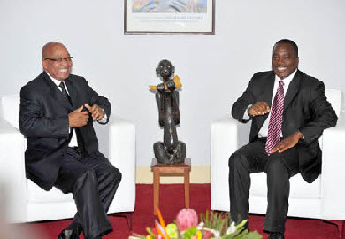 President Joseph Kabila of the Democratic Republic of Congo with President Jacob Zuma of South Africa