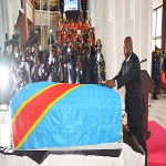 Joseph Kabila during the ceremony honoring Papa Wemba