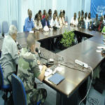 MONUC press conference in DR Congo