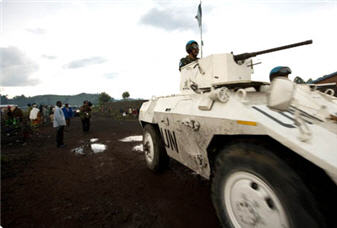 MONUSCO peacekeepers in Goma