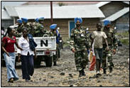 MONUC peacekeepers in Congo