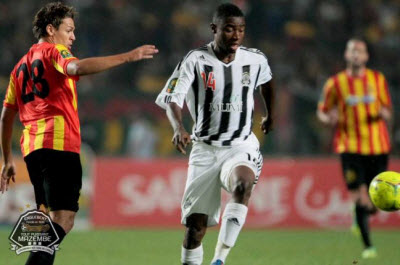 TP Mazembe's Nathan Sinkala during game against Esperance in Tunis