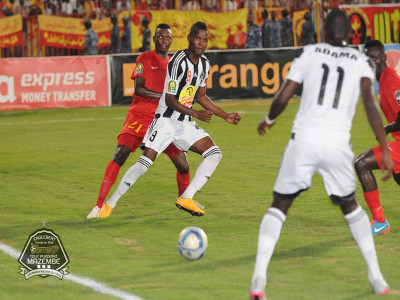 DR Congo's TP Mazembe play against Sudan's El Merreikh on 9.26.2015 in Omdurman