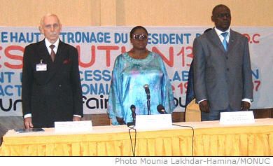 Wednesday September 19 2007 marked the official launch in Kinshasa's Grand Hotel of UN resolution 1325 in the DRC, entitled