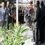 MONUSCO senior management observe a minute of silence in Kinshasa