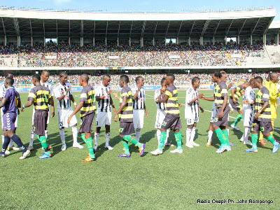 TP.Mazembe play against AS Vita Club in Kinshasa on 4.15.2012
