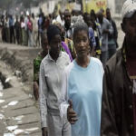 Congolese in line to vote