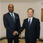 Wen Jiabao and Adolphe Muzito