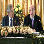 Paul Wolfowitz and Louis Michel in Congo