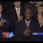 C-SPAN President Bush praises Dikembe Mutombo during State of the Union Address on 1.23.2007
