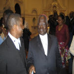 Gary Iwele et Mgr. Monsengwo lors de son passage � Washington,DC le 9.5.2006
