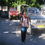Baraka Urio coming back to Dar es Salaam after a school study tour in Zanzibar