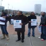 Manifestation organis�e par l'ONG CORPUS et Amnesty International contre les violences fai ...