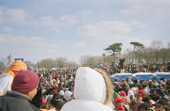 2.000.000 de personnes assistent � l'inauguration historique du Pr�sident Barack Obama au National Mall � Washington, DC.
