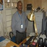 William dans son bureau. One of Supply Staff in MONUC HQ/Bukavu.