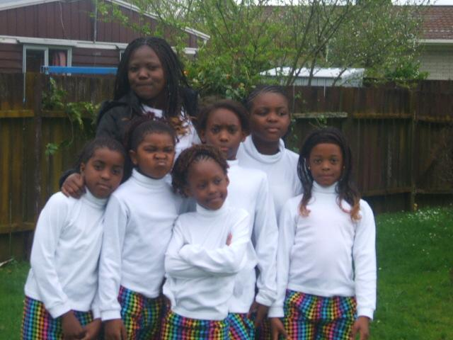 Congolese community of NZ kids at Jambo festival