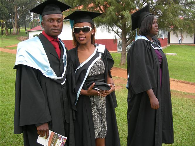 My graduation day in 2009 in Kampala